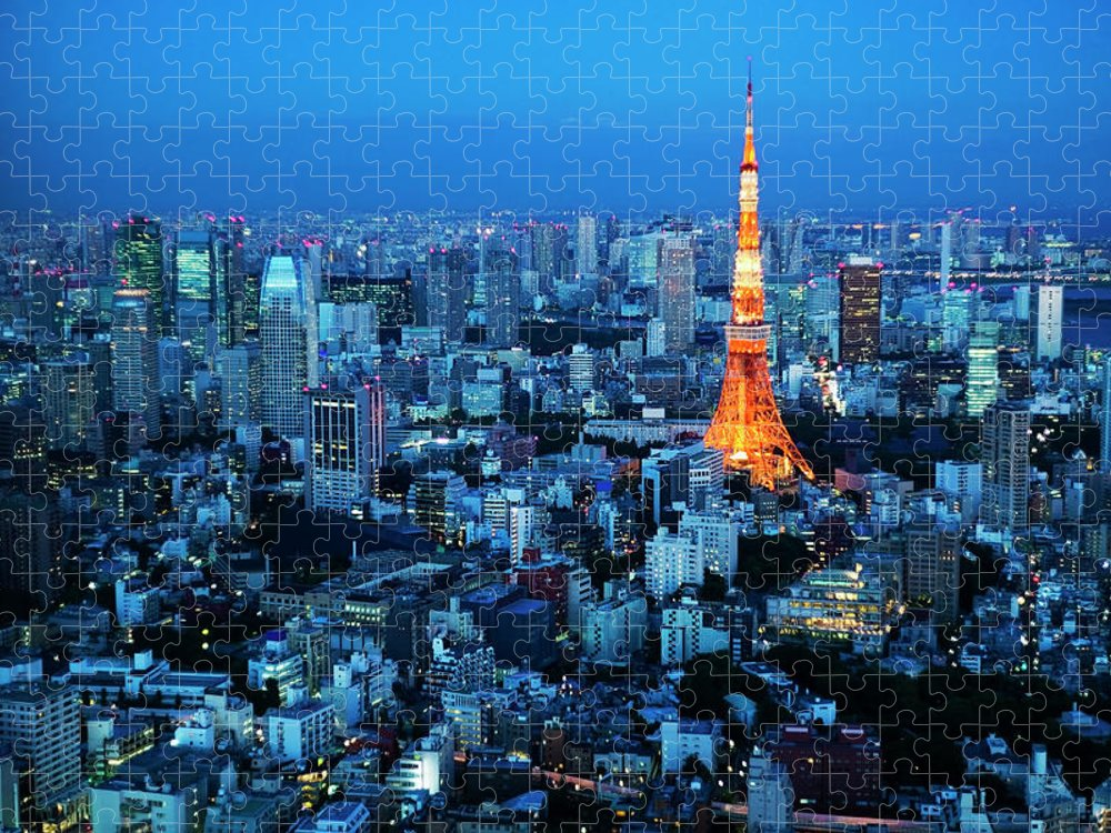 Tokyo Tower Puzzle featuring the photograph Tokyo Tower by Kokouu
