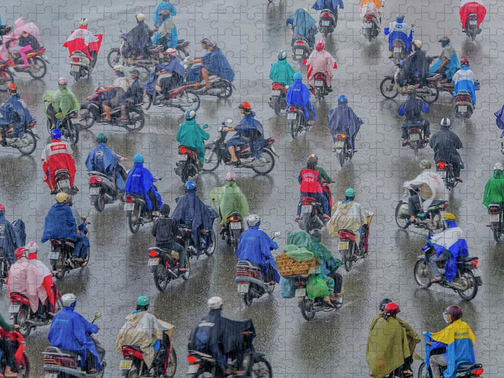 Ho Chi Minh City Puzzle featuring the photograph Traffic In Ho Chi Minh City by Rwp Uk