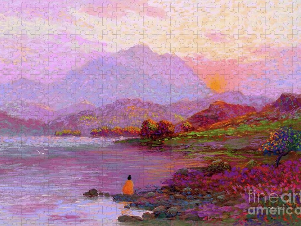 Meditation Puzzle featuring the painting Tranquil Mind by Jane Small