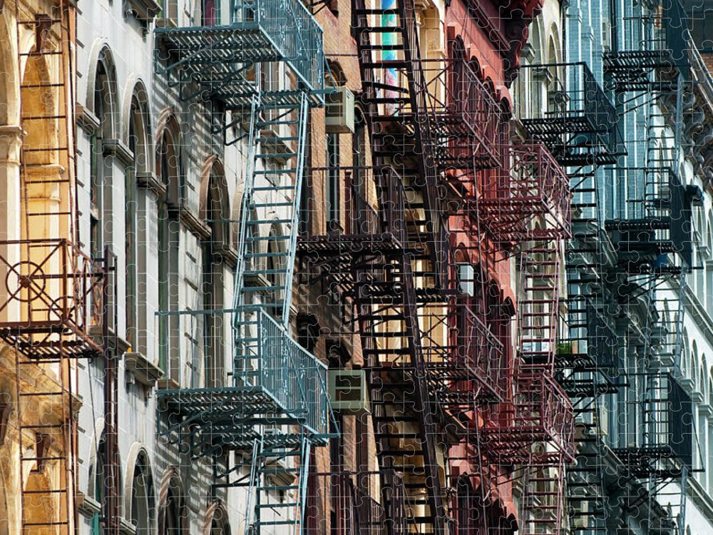 Downtown District Puzzle featuring the photograph Tribeca Fire Escapes by Joseph O. Holmes / Portfolio.streetnine.com
