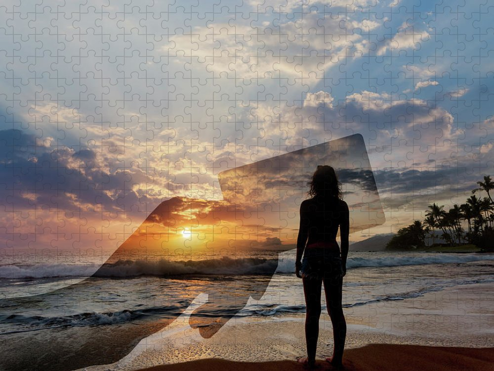 Tranquility Puzzle featuring the photograph Tropical Vacation Solitude by John Lund