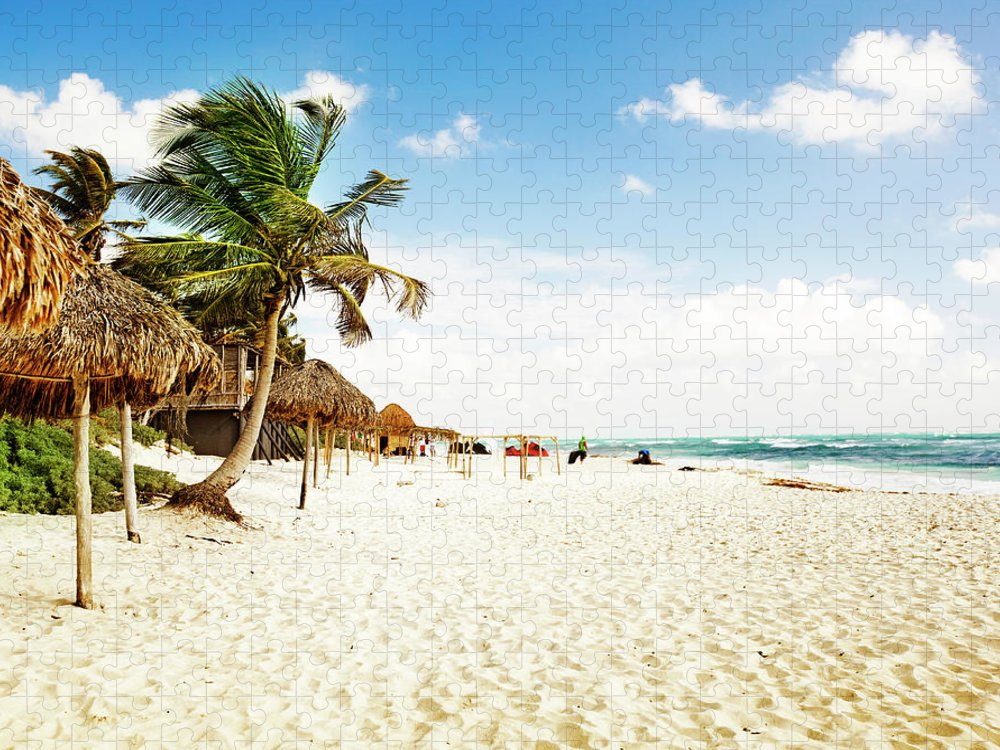 Outdoors Puzzle featuring the photograph Tulum Beach by Orbon Alija