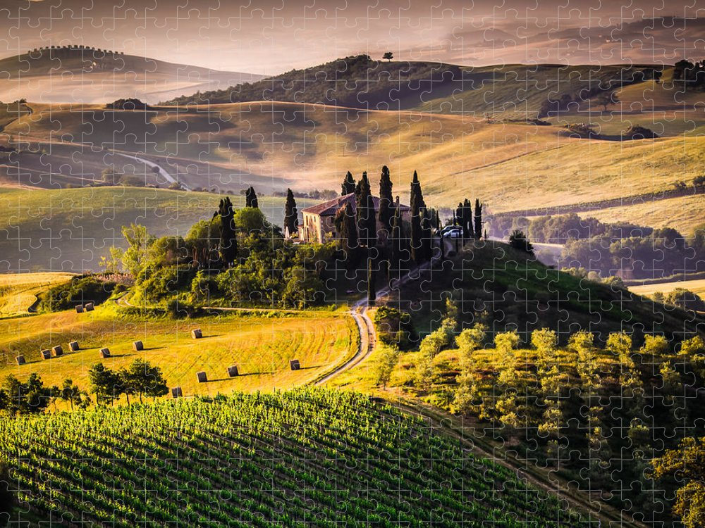 Country Puzzle featuring the photograph Tuscany Italy - Landscape by Ronnybas Frimages