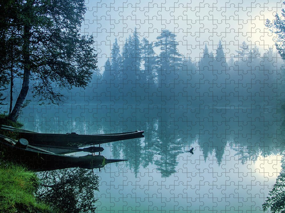 Tranquility Puzzle featuring the photograph Two Forgotten Boats by Baac3nes