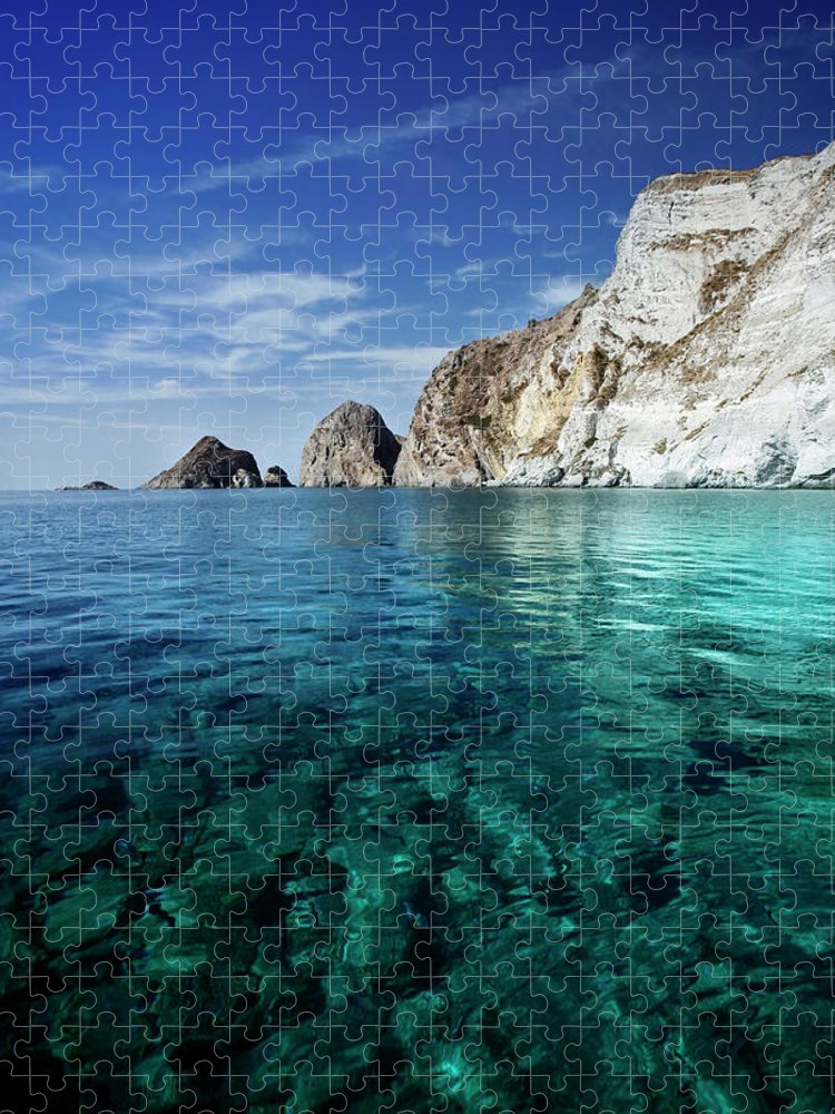 Scenics Puzzle featuring the photograph Typical Mediterranean Sea In Italy by Piola666