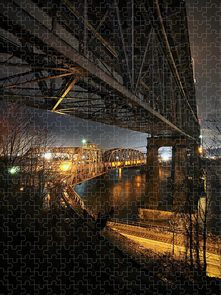 Built Structure Puzzle featuring the photograph Underbelly by Kevin Van Der Leek Photography