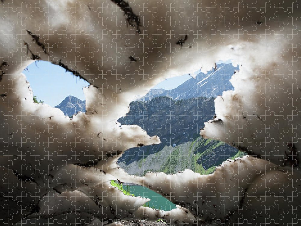 Scenics Puzzle featuring the photograph Underneath A Melting Snow Pack With by Michael Interisano / Design Pics