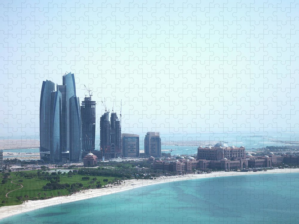 Outdoors Puzzle featuring the photograph Urban Skyline By Tropical Beach by Cultura Exclusive/lost Horizon Images