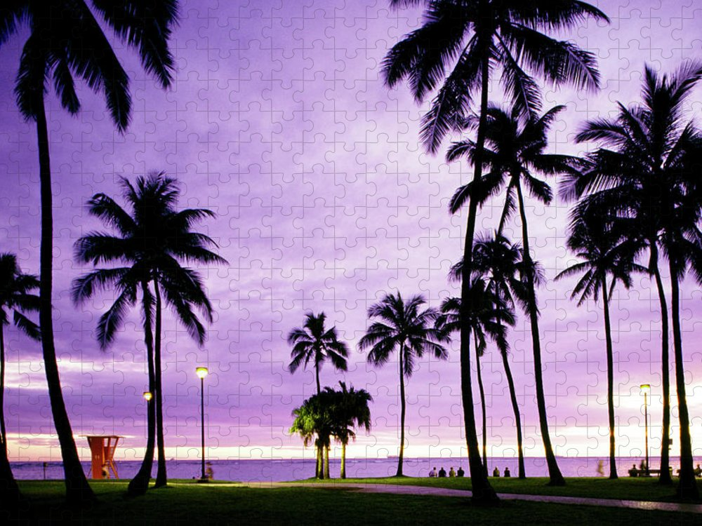 Scenics Puzzle featuring the photograph Usa, Hawaii, Oahu, Honolulu, Waikiki by Maremagnum