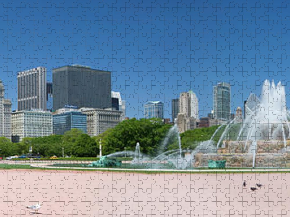Panoramic Puzzle featuring the photograph Usa, Michigan, Chicago, Buckingham by Travelpix Ltd