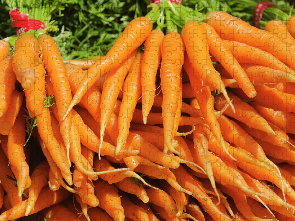 Large Group Of Objects Puzzle featuring the photograph Usa, New York City, Carrots For Sale by Tetra Images