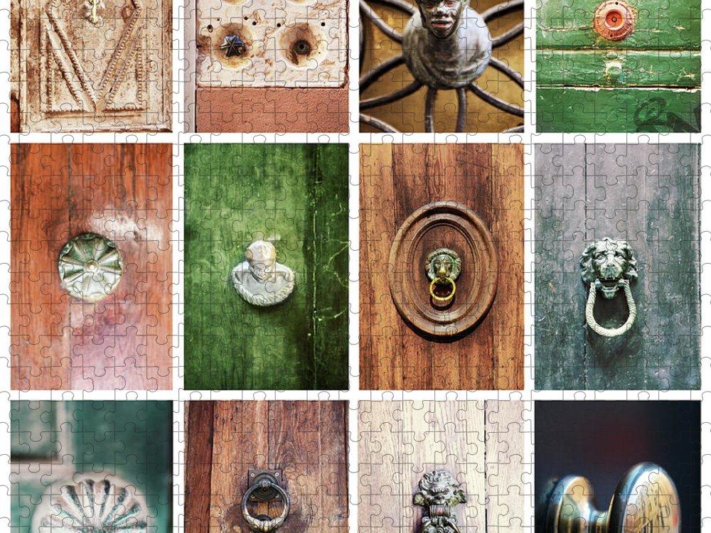 Veneto Puzzle featuring the photograph Venetian Door Knobs by Dori Oconnell