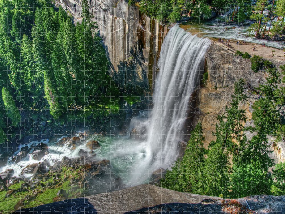 Scenics Puzzle featuring the photograph Vernal Falls by Aaron Meyers