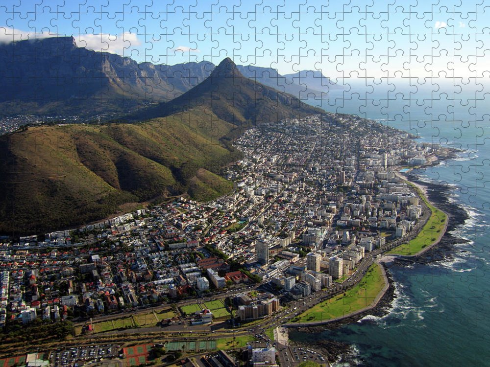 Town Puzzle featuring the photograph View Of Cape Town by Grahambedingfield