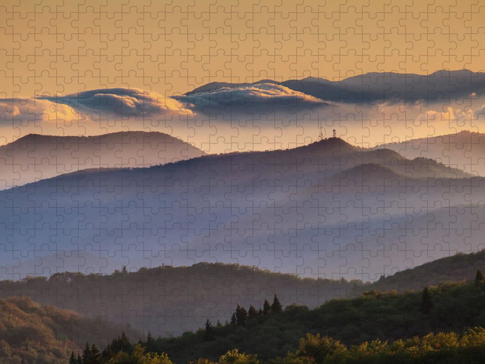 North Carolina Puzzle featuring the photograph View Of Frying Pan Mountain by Fine Art Images By Rob Travis Photography