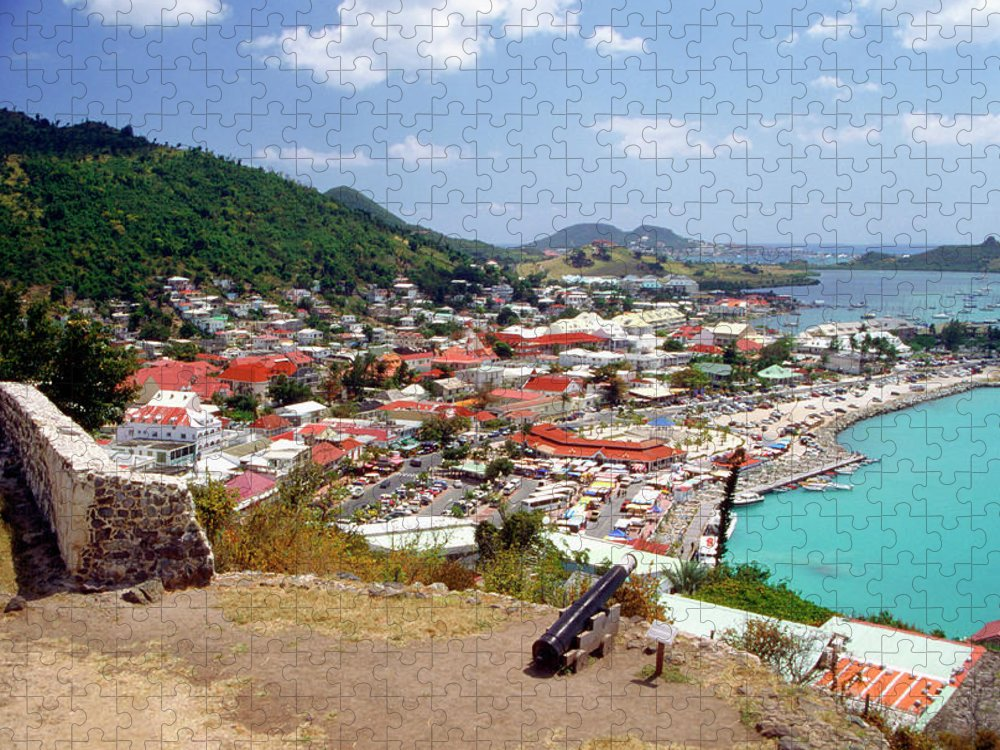 Scenics Puzzle featuring the photograph View Of Marigot Bay From St. Louis by Medioimages/photodisc