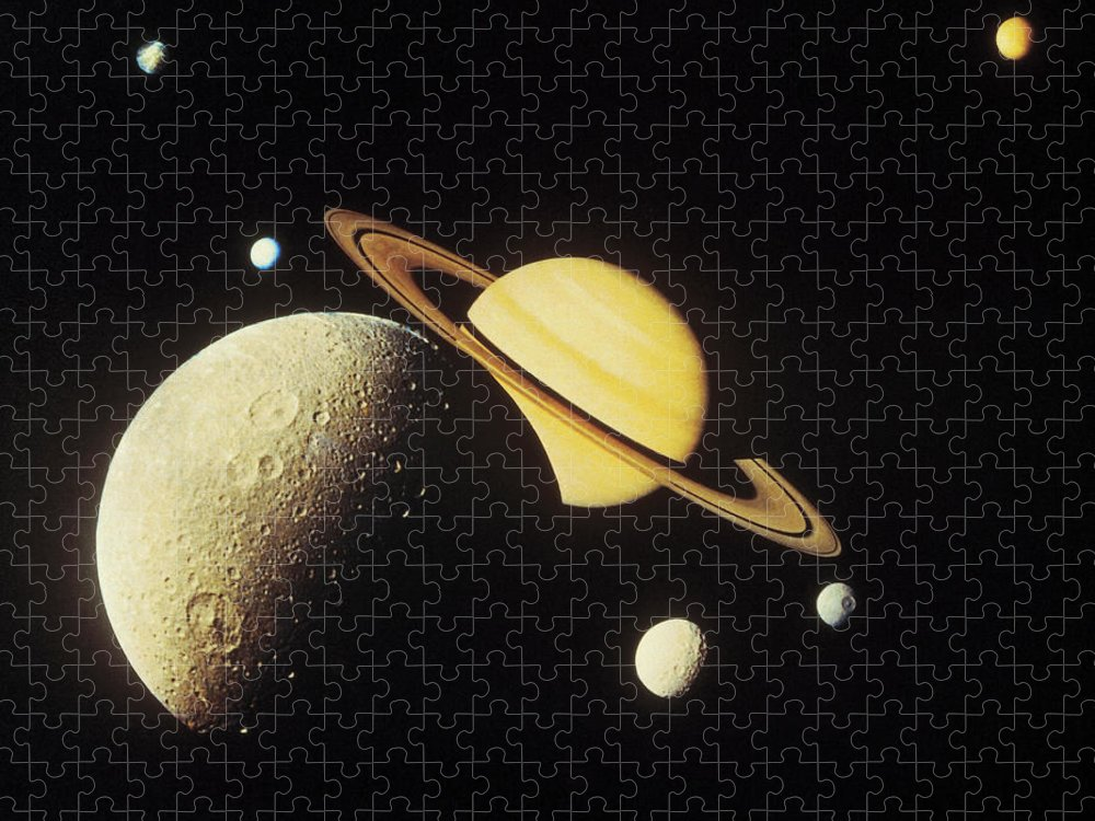 Galaxy Puzzle featuring the photograph View Of Planets In The Solar System by Stockbyte