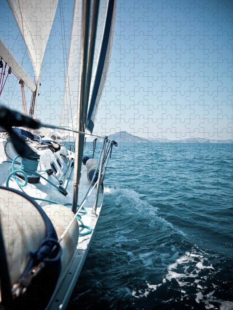 Wind Puzzle featuring the photograph View Of Sailing Boat by Piccerella
