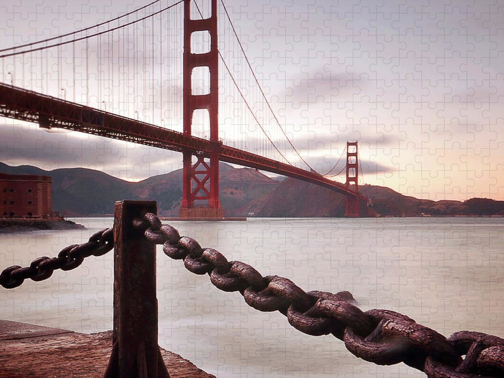 Tranquility Puzzle featuring the photograph Vintage Golden Gate by Philippe Sainte-laudy Photography