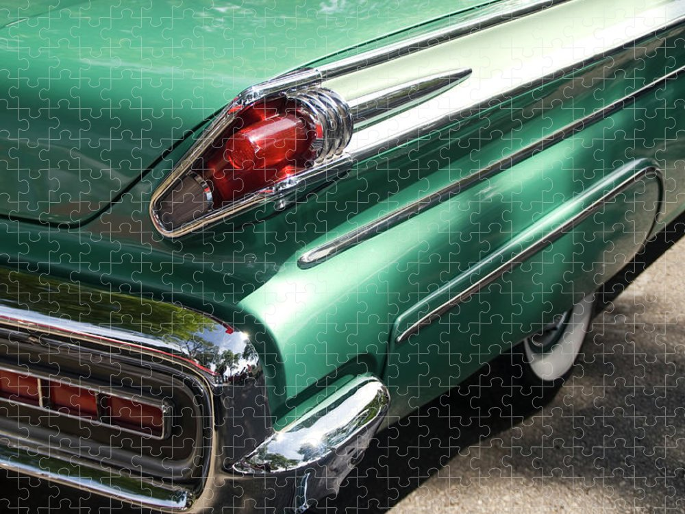 Cool Attitude Puzzle featuring the photograph Vintage Tail Fin by Sstop