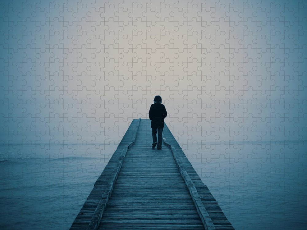 Mental Health Puzzle featuring the photograph Walking Alone by Profeta