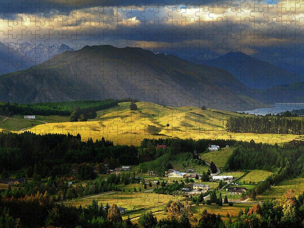 Scenics Puzzle featuring the photograph Wanaka, New Zealand by Atomiczen