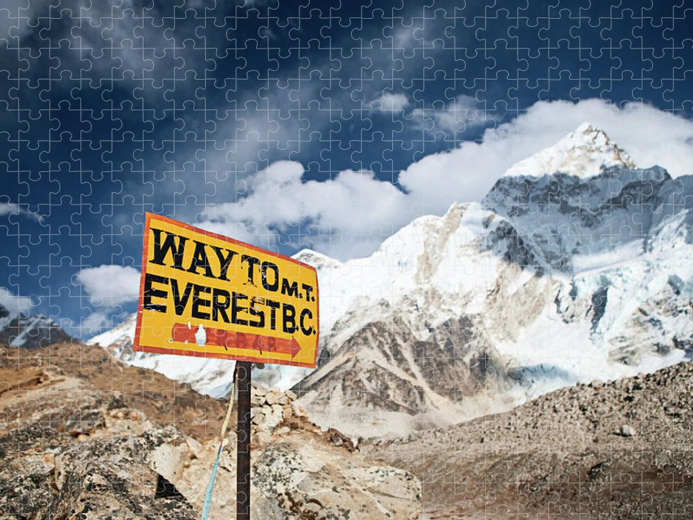 Scenics Puzzle featuring the photograph Way To Everest Base Camp by Hadynyah