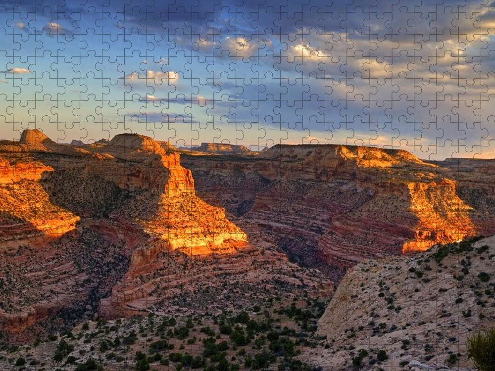 Scenics Puzzle featuring the photograph Wedge Overlook by Yvonne Baur