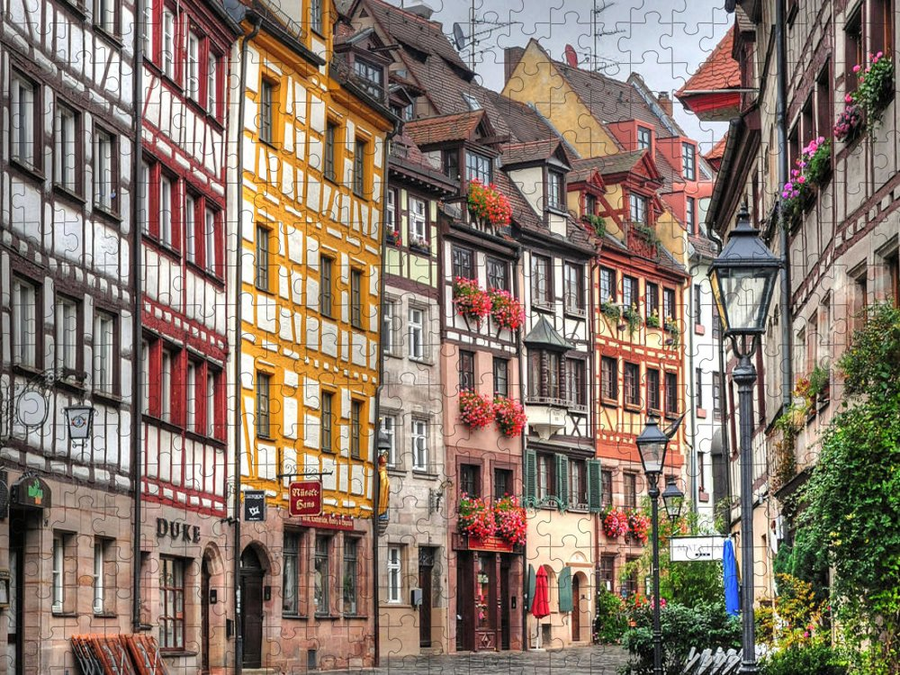 Outdoors Puzzle featuring the photograph Weissgerbergasse, Nuremberg by Habub3