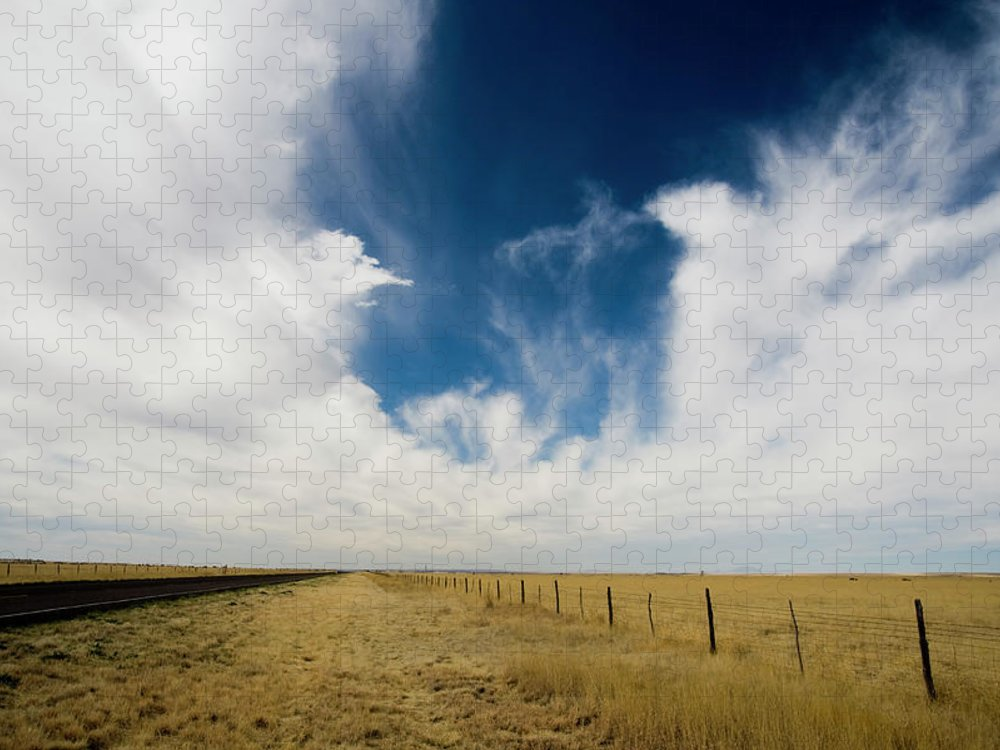 Scenics Puzzle featuring the photograph West Texas Grasslands United States Of by Tier Images