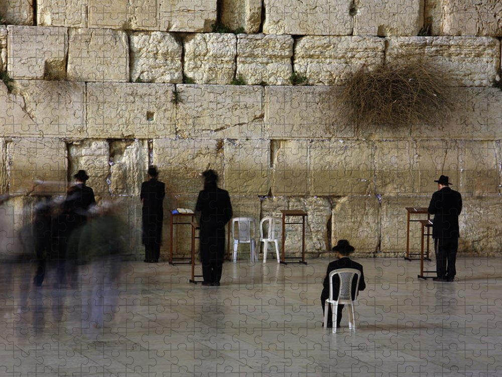 West Bank Puzzle featuring the photograph Western Wall by Simon Podgorsek