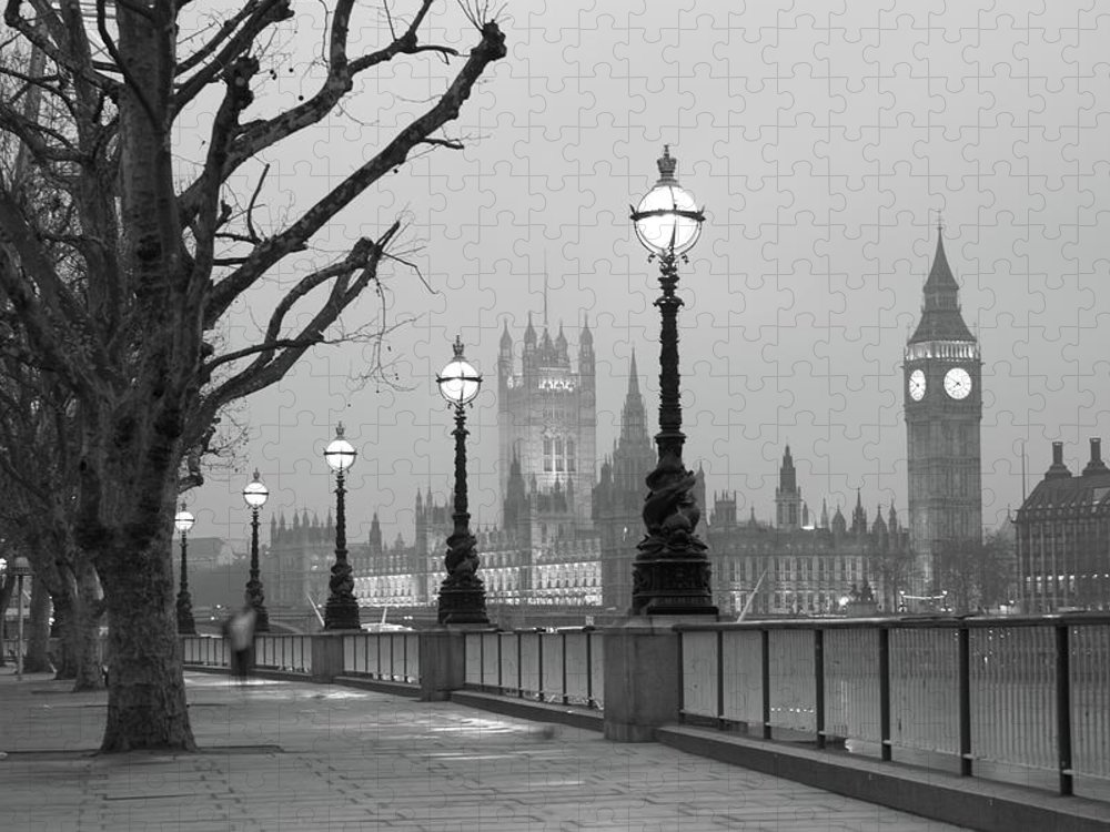 Scenics Puzzle featuring the photograph Westminster At Dawn, London by Gp232