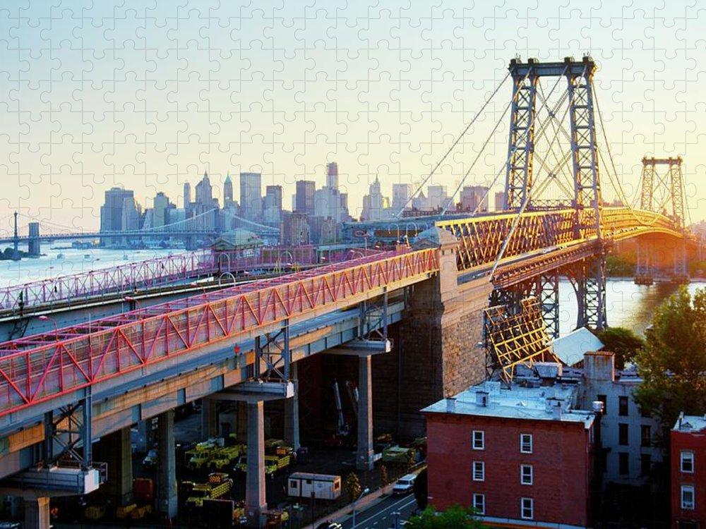 Williamsburg Bridge Puzzle featuring the photograph Williamsburg Bridge by Tony Shi Photography