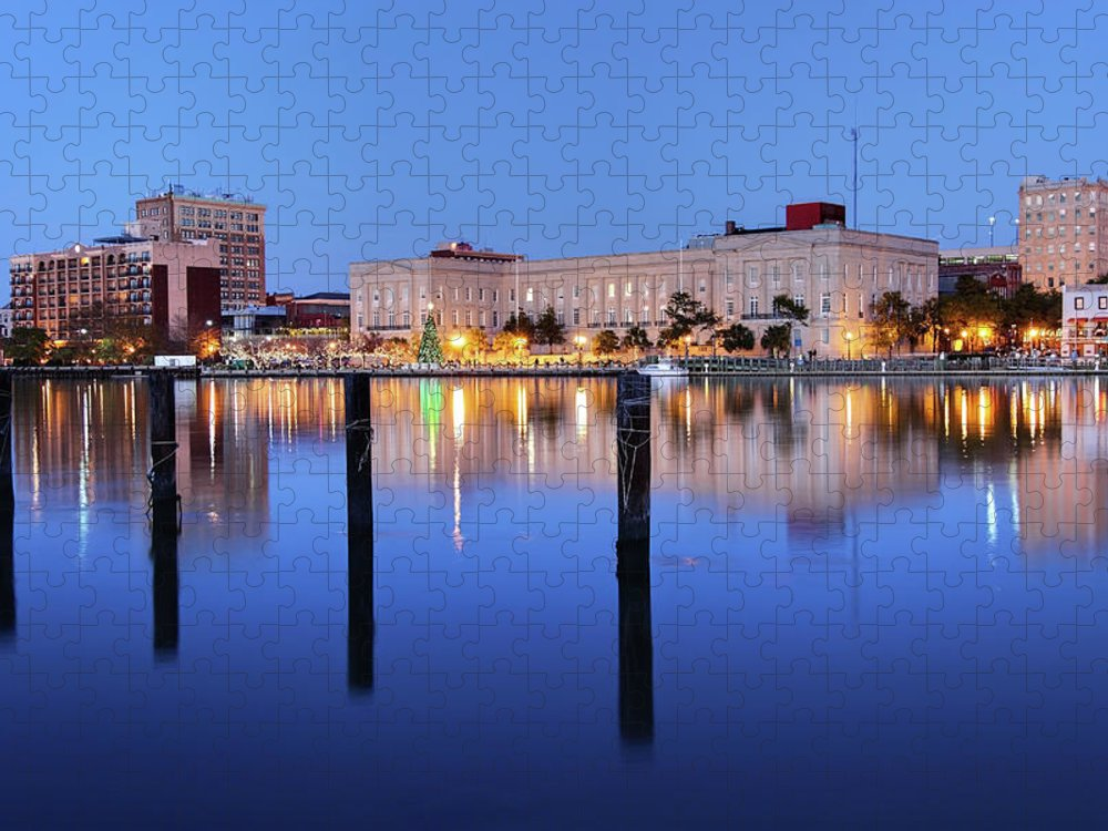 North Carolina Puzzle featuring the photograph Wilmington, North Carolina by Denistangneyjr
