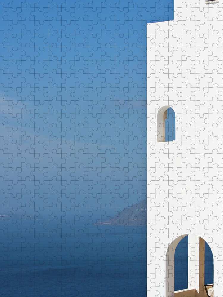 Greece Puzzle featuring the photograph Windows To The Blue by Arturbo
