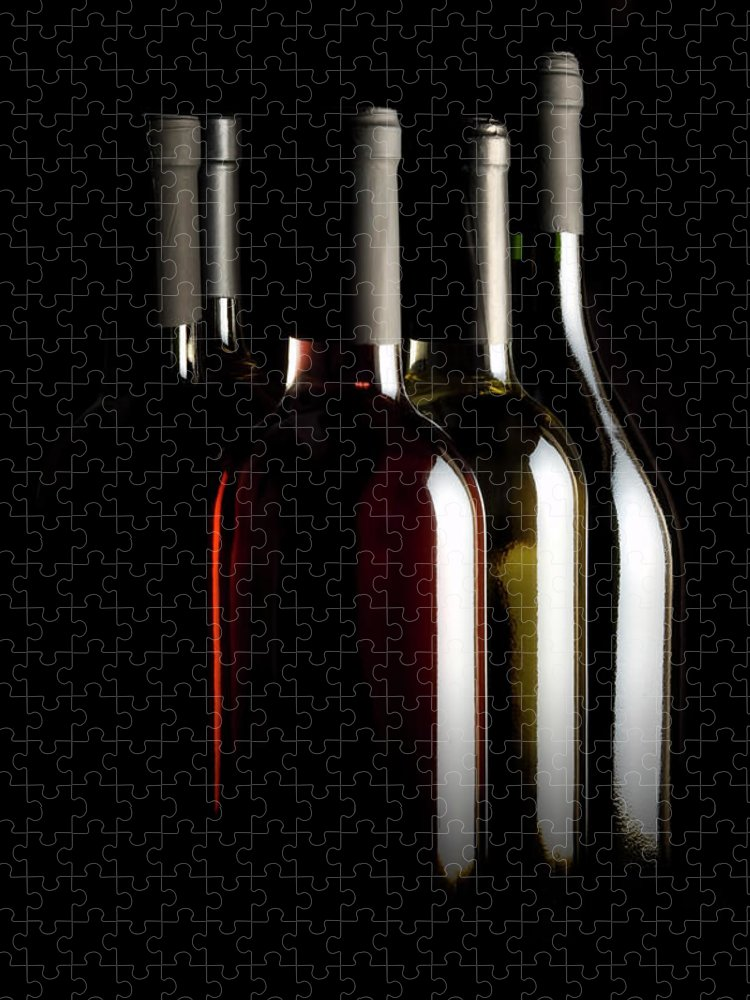 Rose Wine Puzzle featuring the photograph Wine Bottles by Carlosalvarez