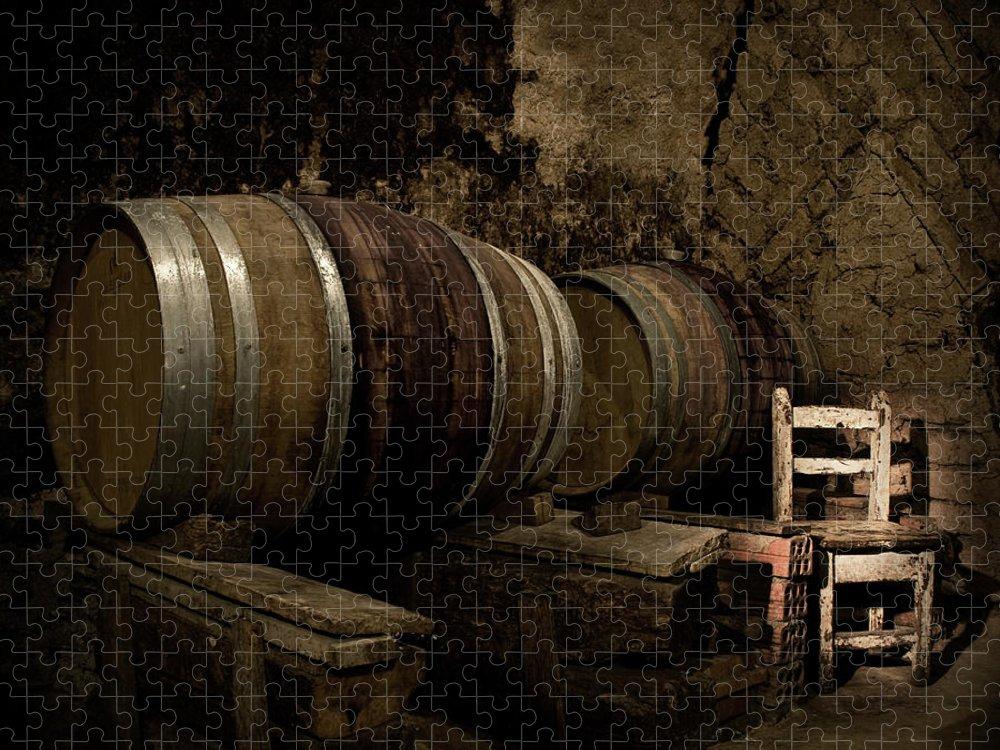 Fermenting Puzzle featuring the photograph Wine Cellar by Fotografias De Rodolfo Velasco