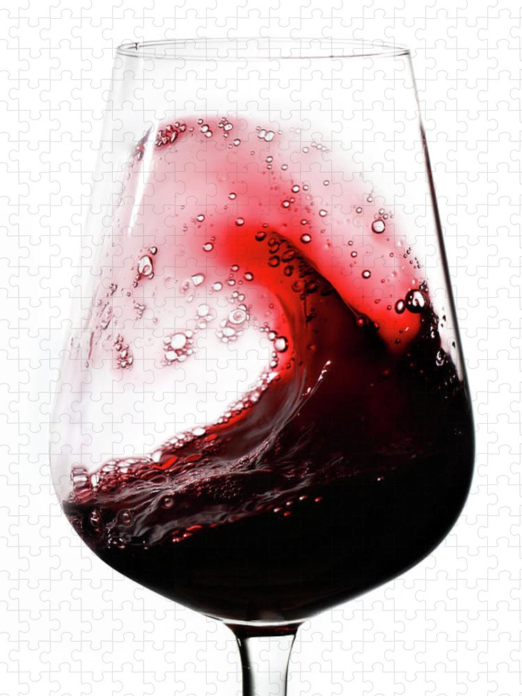 Curve Puzzle featuring the photograph Wine Waves by Seraficus