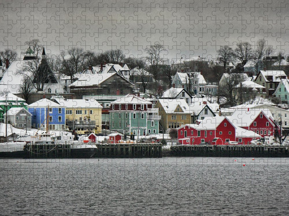 Snow Puzzle featuring the photograph Winter In Lunenburg by Amanda White