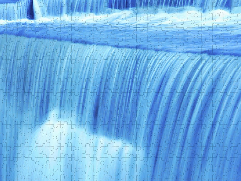 Scenics Puzzle featuring the photograph Xl Waterfall Close-up by Sharply done