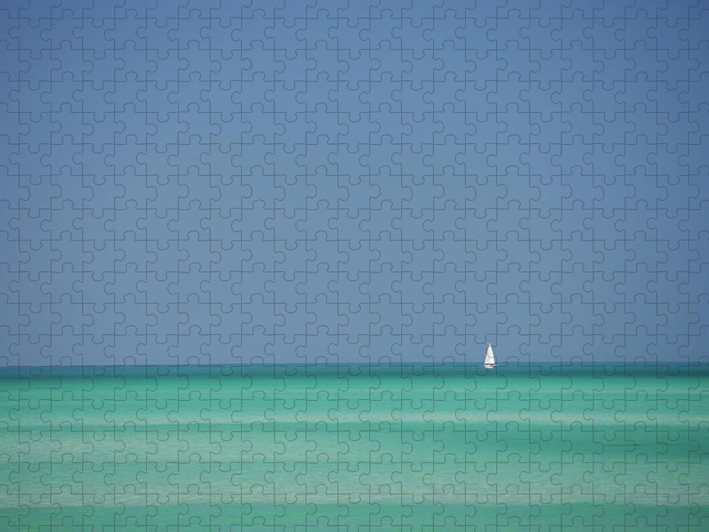 Sailboat Puzzle featuring the photograph Yacht In Gulf Of Mexico, Florida, Usa by Tim Graham