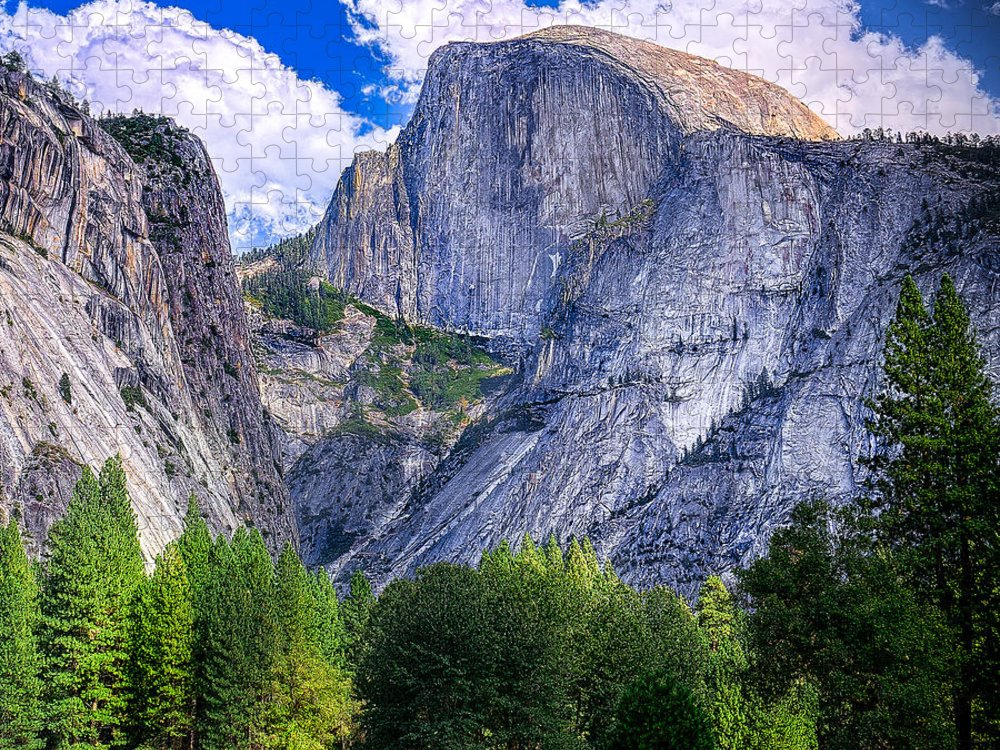 Capitan Puzzle featuring the photograph Yosemite National Park California by Dancestrokes
