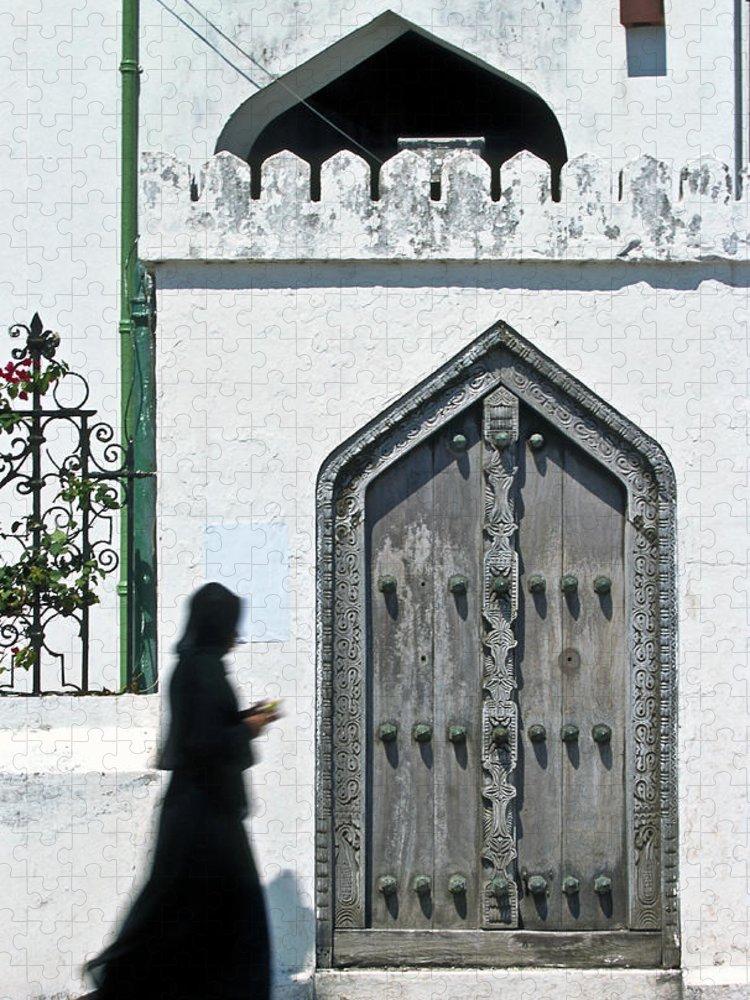 Arch Puzzle featuring the photograph Zanzibar, Unguja Island, Woman In Stone by John Seaton Callahan