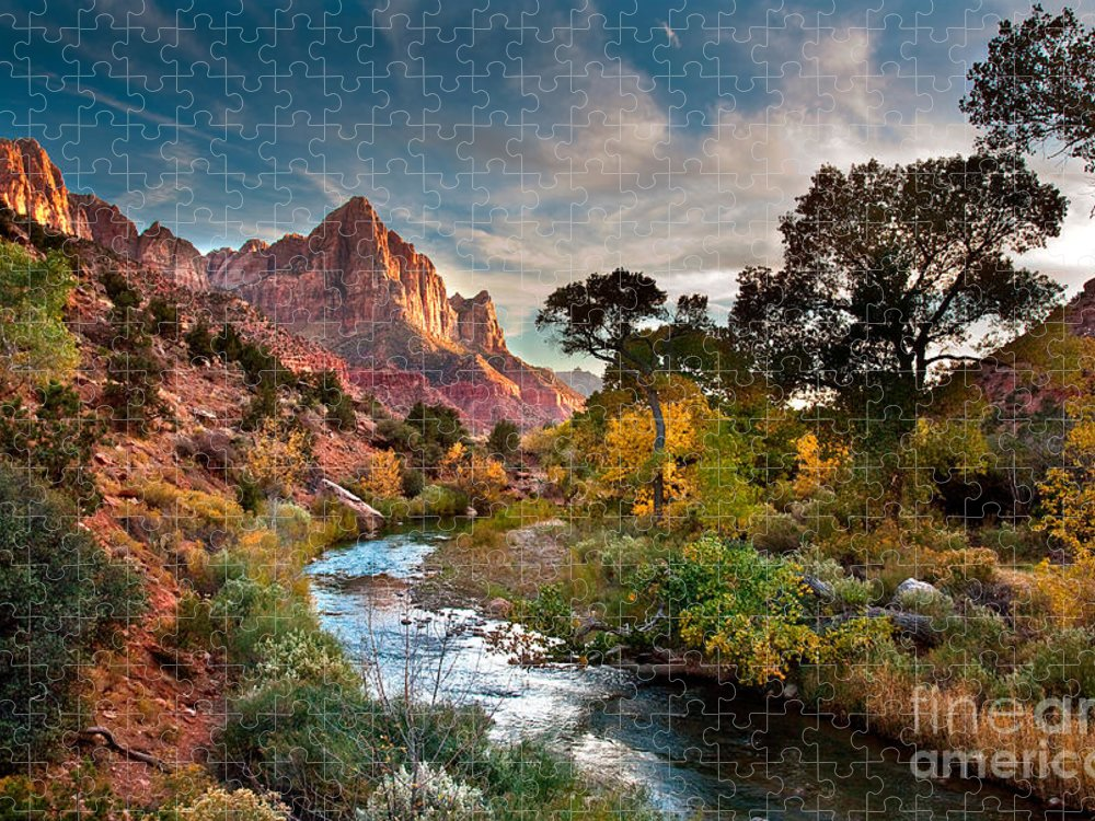 Utah Puzzle featuring the photograph Zion by Peter Kunasz
