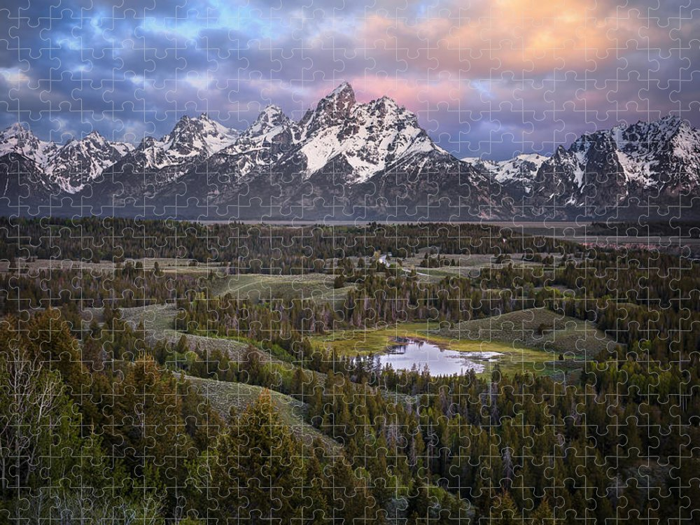 Puzzle featuring the photograph Teton Overlook by Ryan Smith