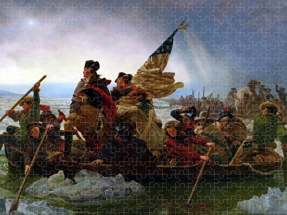 George Washington Puzzle featuring the painting Washington Crossing the Delaware by Emanuel Leutze