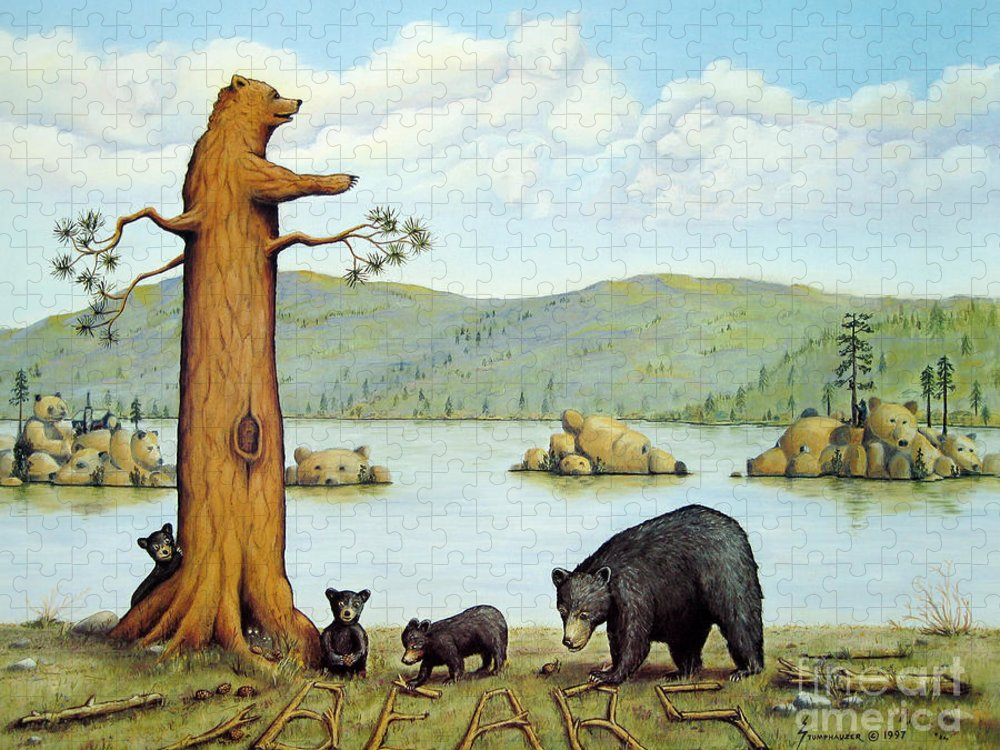 Bears Puzzle featuring the painting 27 Bears by Jerome Stumphauzer