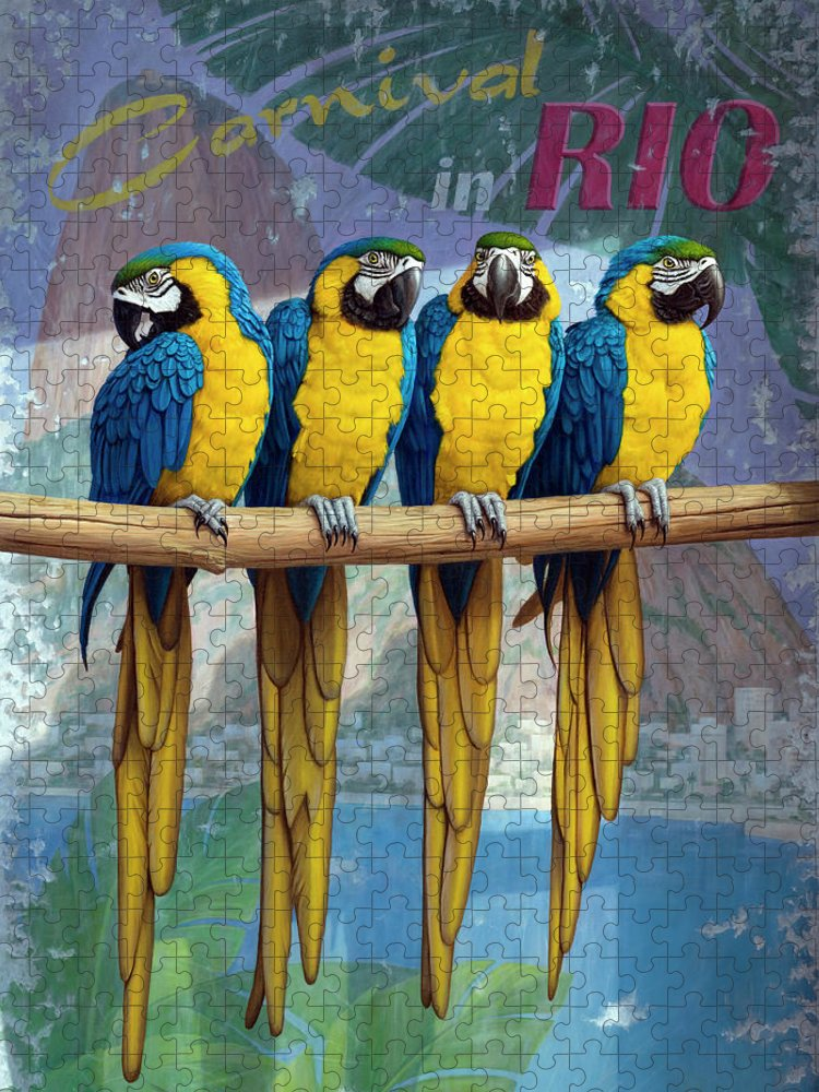 Postcard Puzzle featuring the painting Rio by Brian McCarthy