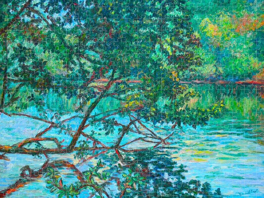 Landscape Puzzle featuring the painting Bisset Park by Kendall Kessler