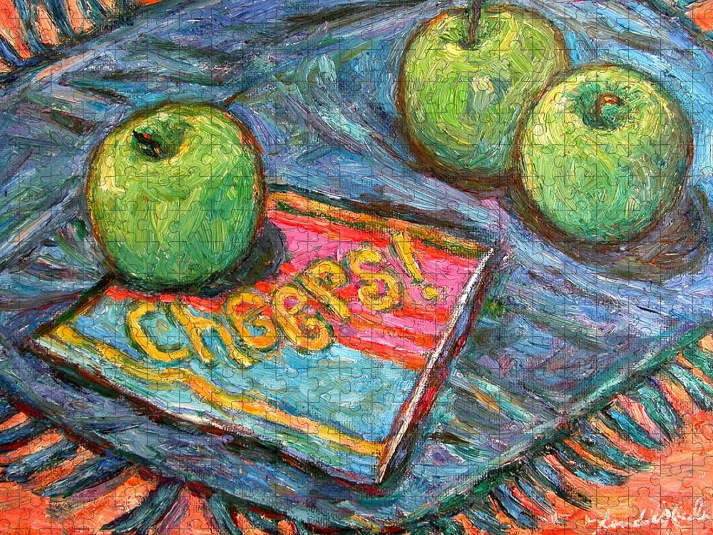 Still Life Puzzle featuring the painting Cheers by Kendall Kessler